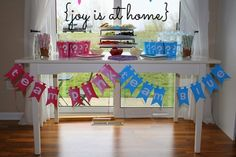 For next time around :)  {Joy Is At Home: Gender Reveal Party - Team Pink/Team Blue}