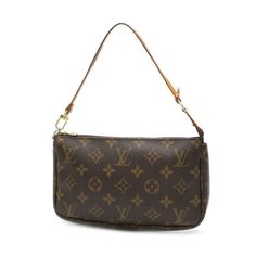 Louis Vuitton Pochette Accessoires Monogram Handle bags Brown Canvas M51980