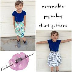 Looking for your next project? You're going to love Reversible Paperbag Skirt- Sizes NB-14 by designer RebelandMalice.