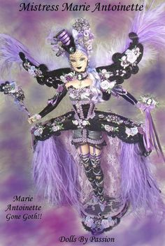 Mistress Marie Antoinette - OOAK Victorian and Historical Dolls