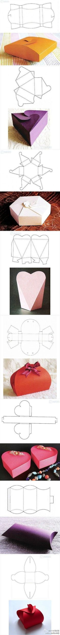 """DIY boxes - Imgur So neat, great for giving gifts I think. Make it special with a """"simple"""" box you do all by yourself!"""
