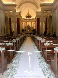 Tie a ribbon across pew end to prevent the Guests from walking on aisle before Wedding Party. Untie as procession starts. Wedding Reception Chairs, Wedding Table, Rustic Wedding, Trendy Wedding, Reception Ideas, Black Wedding Invitations, Rustic Invitations, Gypsophila Wedding, Wedding Bouquets