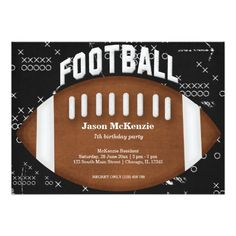Sold this #football #sports #birthday #invitations to TX. Thanks for you who purchased this.