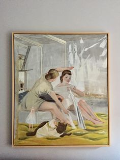 """Rosa Loy painting - approx 46x53"""" (framed)"""