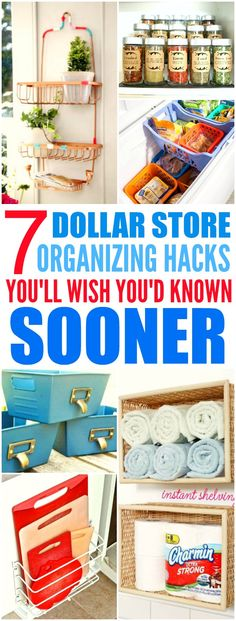 These 7 Dollar Store hacks from the experts are THE BEST! I'm so glad I found…