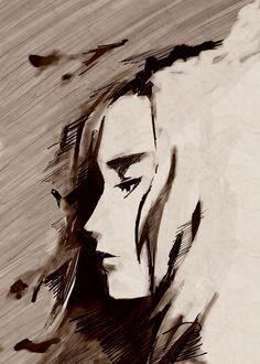 """""""Eva"""" by Irma Matus. Artwork in the Metal Gear Art Studio."""
