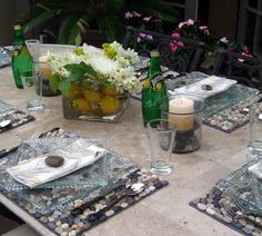 Glass dishes / patio party