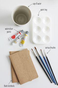 watercolor moleskins