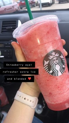 i wanna go to Starbucks Starbucks Flavors, Starbucks Hacks, Bebidas Do Starbucks, Secret Starbucks Drinks, Starbucks Secret Menu Drinks, Starbucks Coffee, Healthy Starbucks Drinks, Strawberry Starbucks Drink, Starbucks Refreshers