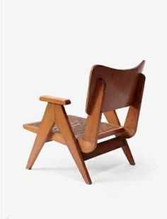George Korody; Wood and Cord Lounge Chair, 1950s.