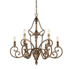 View the Designers Fountain 85689 Isla 9 Light 2 Tier Candle Style Chandelier at LightingDirect.com.
