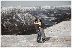 This couple celebrated their engagement in Hallstatt with a pre-wedding snowshoe hike Austrian Village, Cloudy Weather, Snowshoe, Elopement Ideas, Before Sunrise, Stay The Night, World Heritage Sites, Photo Sessions, Engagement Photos