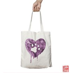 Vászontáska - Lila mancs Reusable Tote Bags