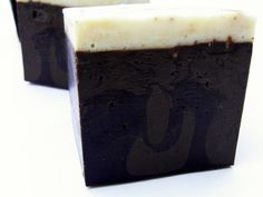 Espresso Coffee Soap - Beautiful swirls and made with coconut milk for amazing bubbly lather!  Vegan and handmade too!