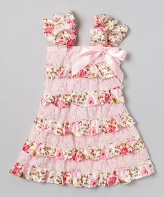 If i have another girl...Loving this Pink Rose Ruffle Pettidress - Infant, Toddler & Girls on #zulily! #zulilyfinds