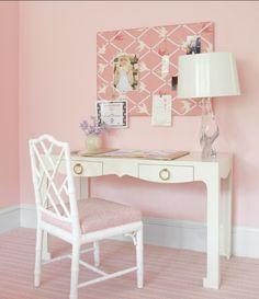 Homework station in girls bedroom.
