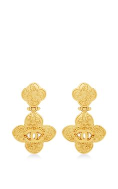 Chanel Grapevine Cross Dangle Earrings by WHAT GOES AROUND COMES AROUND for Preorder on Moda Operandi