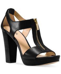 MICHAEL Michael Kors Berkley T-Strap Platform Dress Sandals | macys.com