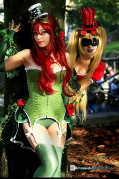 Poison Ivy & Harley Quinn cosplay