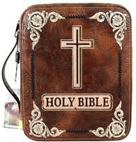 (MWDC002-OTBR) Western Bible Cover - Brown
