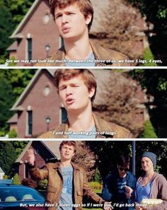 Ansel Elgort and Shailene Woodley in The Fault In Our Stars one of my favorite scenes from the movie