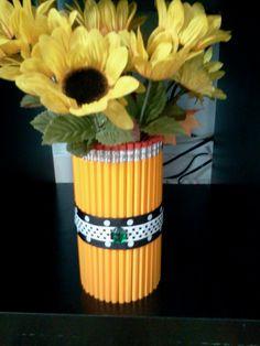 Pencil Vase...really cute gift for a teacher!