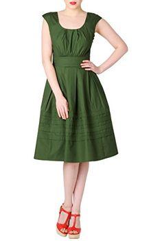 eShakti Women's Custom Pleated cotton poplin dress 2X-20W Loden green eShakti http://smile.amazon.com/dp/B014RCK3YE/ref=cm_sw_r_pi_dp_ri6Rwb0RC4XZB