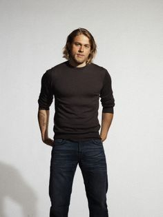 Charlie Hunnam, or like I want him to be, Jax Teller... Sons of anarchy!