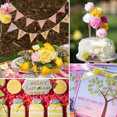This adorable, sweet, and sunny lemonade party created by Ali Polson of Parties on a Pedestal for her daugh...