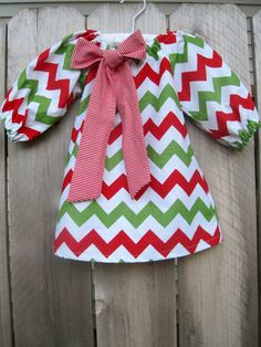 Christmas Baby Girl Toddler Peasant Dress Bubble by SewSheriSew