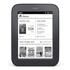 Nook Simple Touch Reader- Got one of these for Christmas and I am addicted. I LOVE it!!! Now to find a cute case on here to make :)