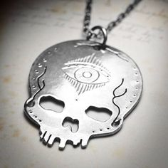Sterling Silver Third Eye Skull Necklace  http://goreydetails.net/shop/index.php?main_page=product_info=41_185_id=2044