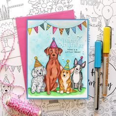 Living My Dream: STAMPtember Blog Party for Simon Says Stamp! Simon Says Stamp, Happy Birthday Cards, My Dream, Scrapbook, Party, Projects, Blog, Happy Birthday Greeting Cards, Log Projects