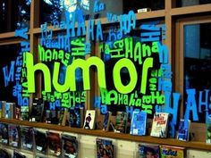 Humor Book Display by Rachel Moani