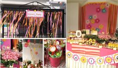 Flower Garden theme party during summer time