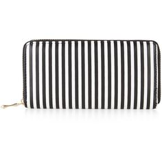 New Look Monochrome Stripe Zip Around Purse ($15) ❤ liked on Polyvore featuring bags, wallets, black pattern, pattern bag, pattern wallet, striped bag, striped wallet and stripe bag