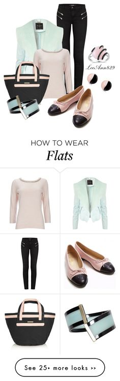 """""""pastel and black"""" by leeann829 on Polyvore featuring J Brand, Jane Norman, Wallis, See by Chloé, Emporio Armani, Antica Murrina, Chanel and Allurez"""