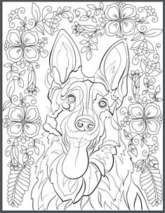 De Stress With Dogs Downloadable 10 Page Coloring Book For Adults Who Love