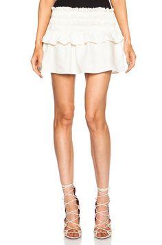 Isabel Marant Etoile Crista Linen-Blend Skirt in Chalk | FWRD