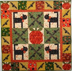 Quilt Inspiration: Free Pattern Day: Halloween Patch Quilt, Quilt Blocks, Pumpkin Quilt Pattern, Halloween Quilts, Fall Quilts, Quilt Patterns, Halloween Decorations, Free Pattern, Alice