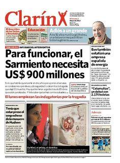 Para funcionar, el Sarmiento necesita US$ 900 millones. Más información: http://www.clarin.com/edicion-impresa/