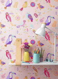 Tapety dětské Kids and Teens Papoušci fialová Kids, Color, Home Decor, Young Children, Boys, Decoration Home, Room Decor, Colour, Children
