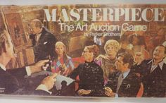 Masterpiece Board Game Parker Brothers 1970 Vintage Complete Art Auction #ParkerBrothers
