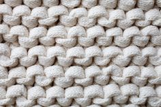 White Chunky Knit Wall Mural, custom made to suit your wall size. Custom design service and express delivery available.