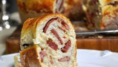 Tortano Pão de Linguiça Calabresa (Pizzaria Bráz)