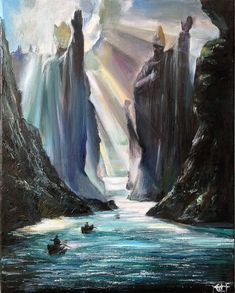 The Argonath by Ainaven.deviantart.com on @DeviantArt