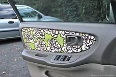 Reupholster your car door with a fabric of your choice.   36 Things That Will Make Riding In Your Car So Much Better