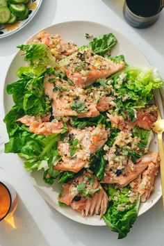 Alison Roman Salmon With Whole Lemon Dressing Recipe - NYT Cooking Broccoli Recipes, Salmon Recipes, Fish Recipes, Seafood Recipes, Fish Dishes, Seafood Dishes, Fish And Seafood, Main Dishes, Healthy Recipes