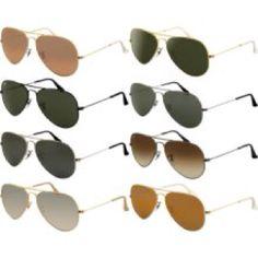 Ray ban aviator sunglasses for women.