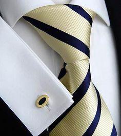 *Kent + Shark Krawatte + Manschettenknöpfe